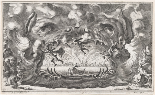 The hellmouth, set design from 'Il Pomo D'Oro'