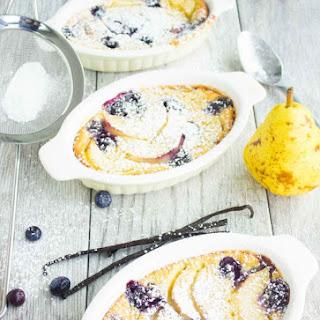 Pear Blueberry Vanilla Clafoutis