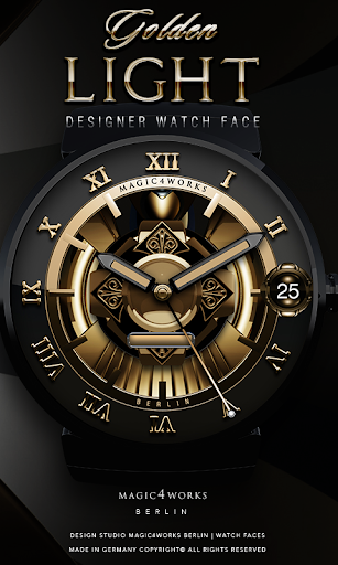 Golden Light Watch Face