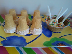 Photo: Candy coated cones, spoons, and waffle bowls.