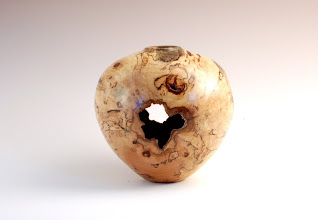 "Photo: Clif Poodry -- Spalted Maple Hollow Form -- 5.75"" X 6"" -- $250"
