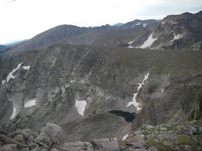 Photo: Lake of Many Winds below Tanima Peak.