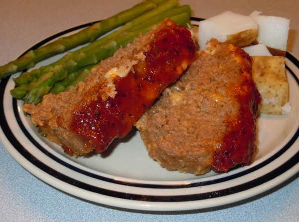 Cheezy Meatloaf With Homemade Barbecue Glaze