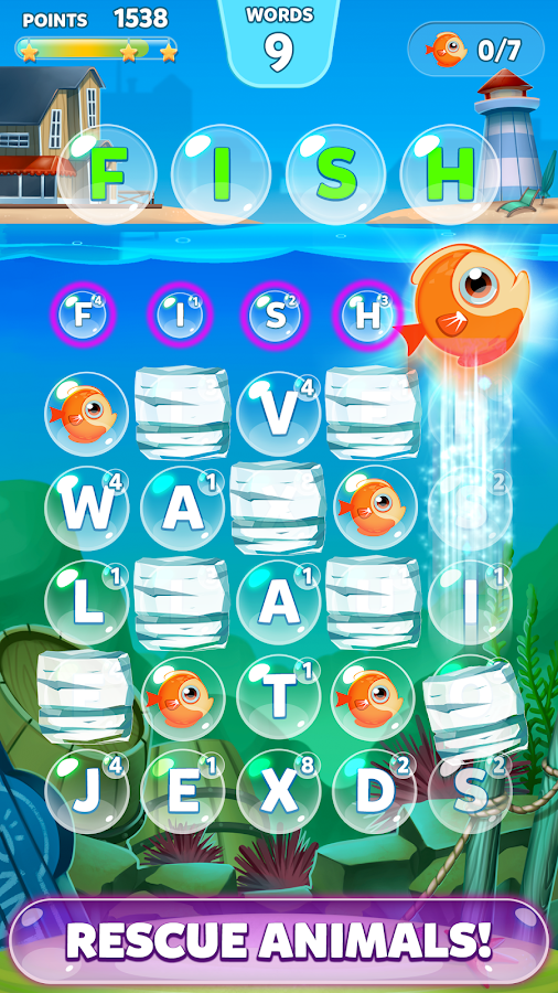 Bubble Words - Letter Search- screenshot