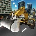 Sand Excavator Crane Sim 3D icon
