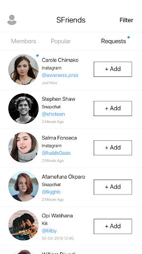 Add friends on Snapchat , KIK & Instagram 10.4 Paidproapk.com 2