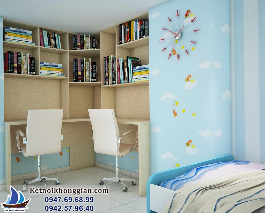 thiết kế phòng ngủ bé trai với nội thất thông minh