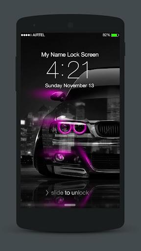Neon Cars Lock Screen 3.0.2 screenshots 1