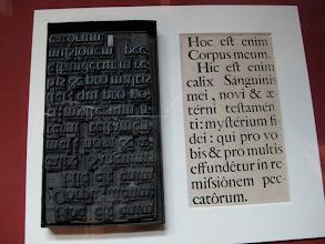 Photo: Some Latin alphabet.