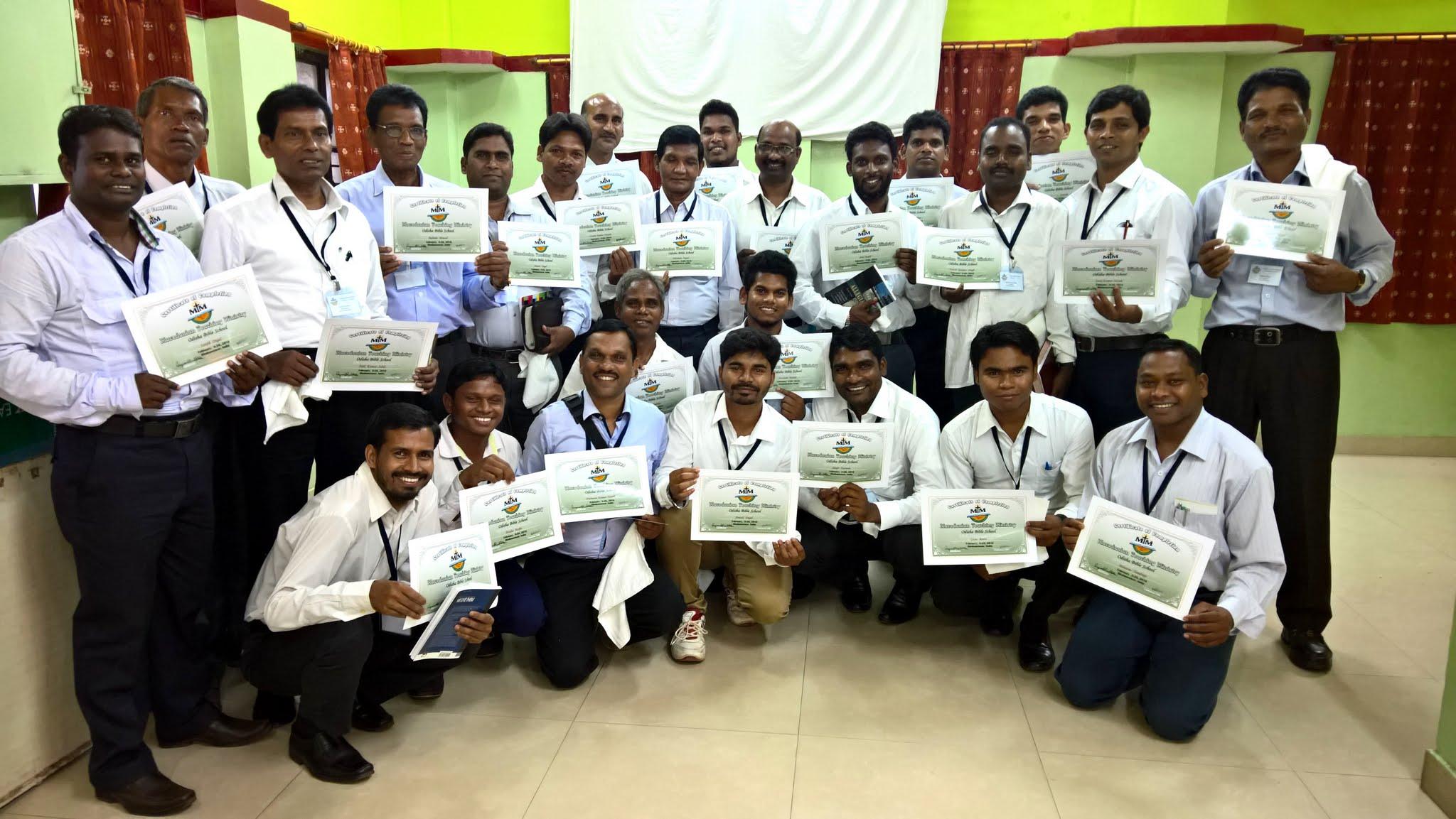 Photo: The first MTM three-week Odisha Bible school graduating class of 25 dedicated pastors and emerging church leaders.