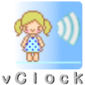 Vclock (voice guidance) icon