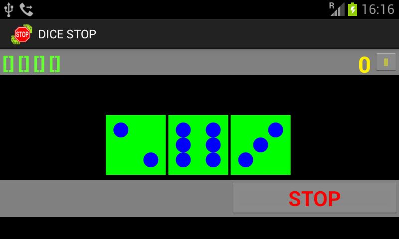 Скриншот Dice Stop