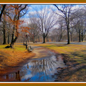 After The Rain... by Morris Kleyman - Digital Art Places ( time, seasons, colors, places, landscapes, moments, reflections...,  )