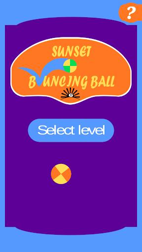 Sunset Bouncing Ball