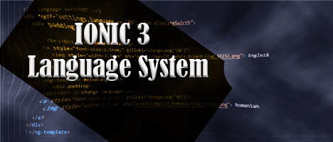 Language System in an Ionic 3 Application