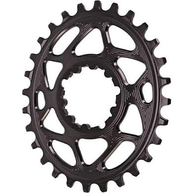 Absolute Black Spiderless GXP Direct Mount Oval Chainring for Boost