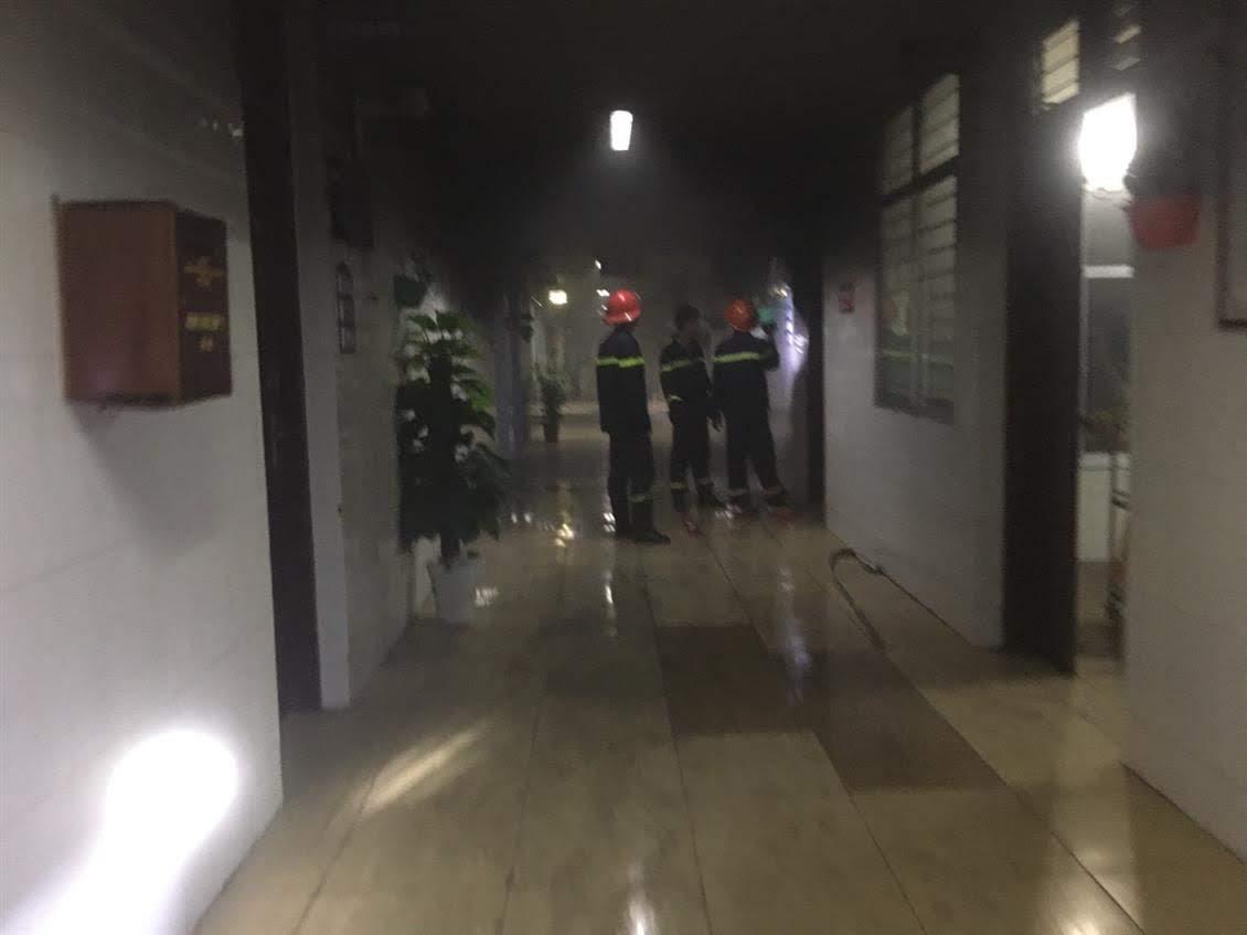 CBCS Phòng Cảnh sát PCCC&CNCH chữa cháy tại Bệnh viện