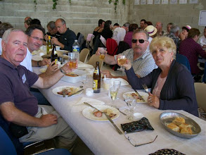 Photo: Lunched on sauerkraut and sausages with Henri and Elisabeth Duc Goninaz from Beaufort in the Savoie who we hosted in 2009.