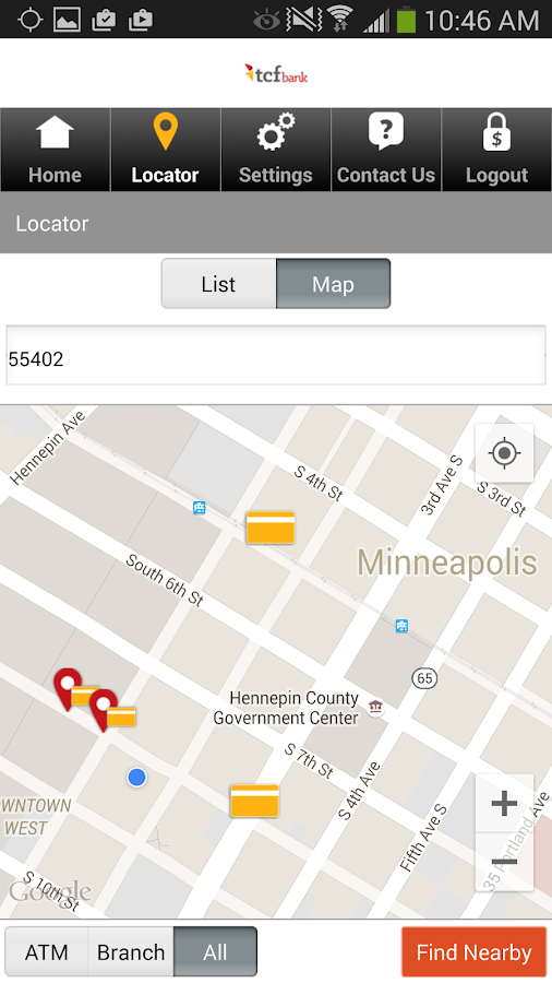 TCF Bank Mobile- screenshot