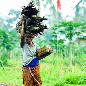 Hard worker by Chusnul Hidayat - People Portraits of Women