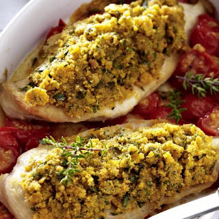 Chicken with Herbed Breadcrumbs.