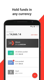 Xapo · Bitcoin Wallet & Vault - náhled