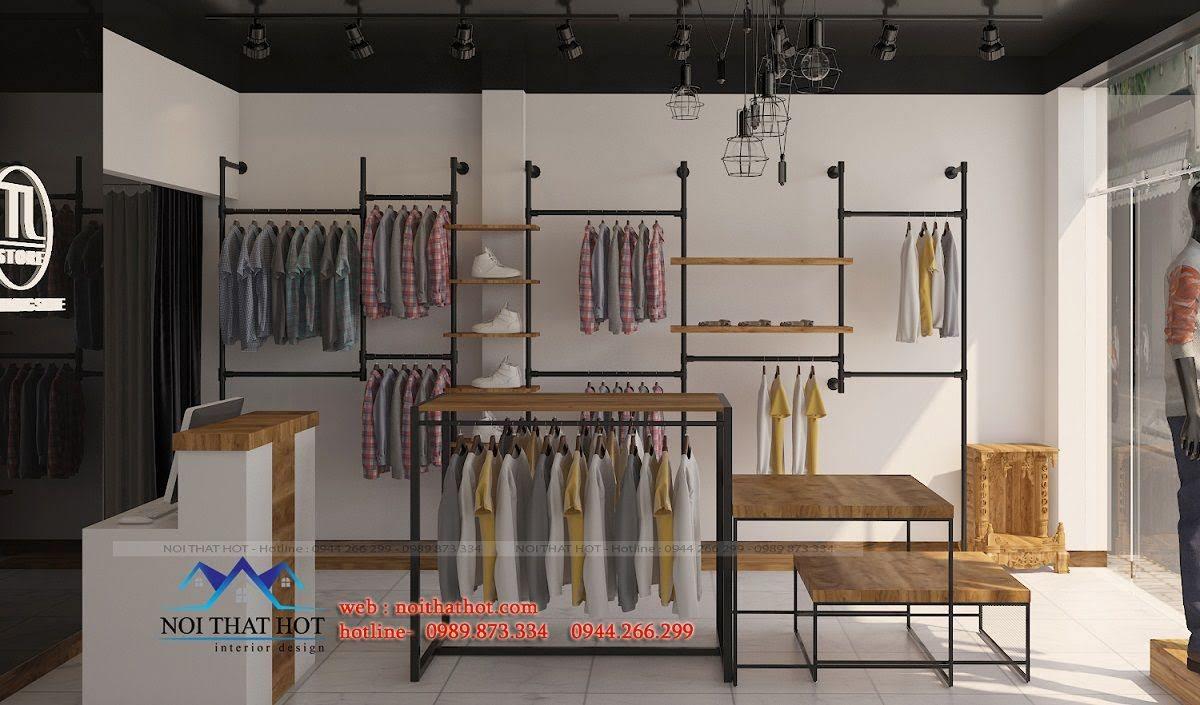 thiết kế shop thời trang nam 5