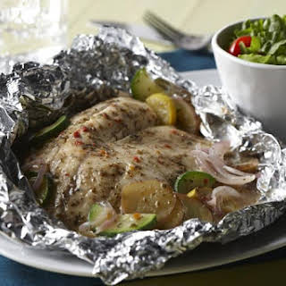 Tilapia Packets with Zucchini and Potatoes.