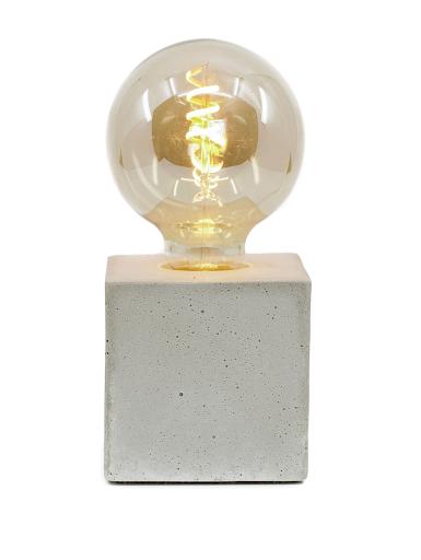 lampe cube béton beige
