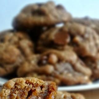 Toffee & Milk Chocolate Peanut Butter Cookies (Gluten Free)