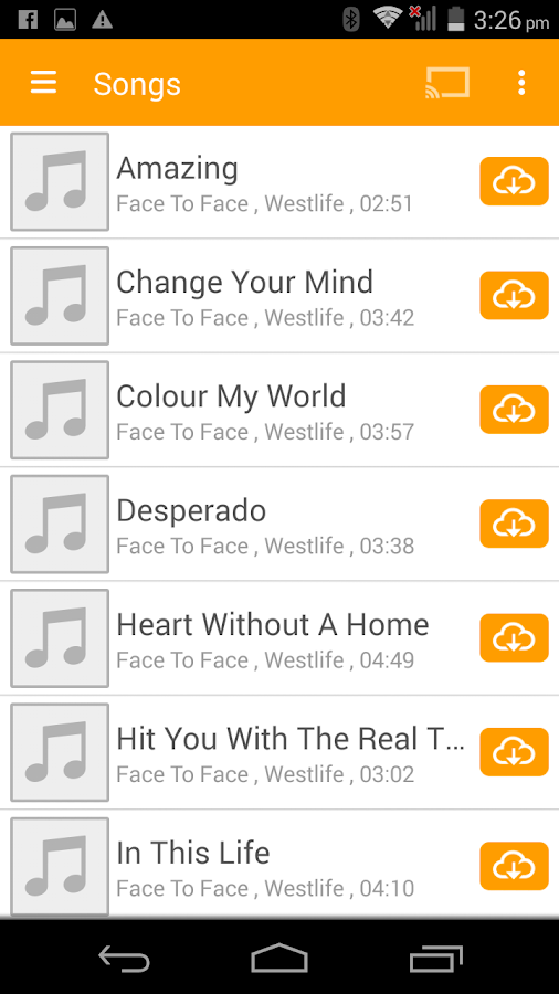 abMusic (music player) - screenshot