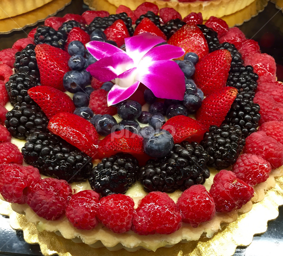 Blackberry And Rasberry Dessert Tart by Lope Piamonte Jr - Food & Drink Candy & Dessert