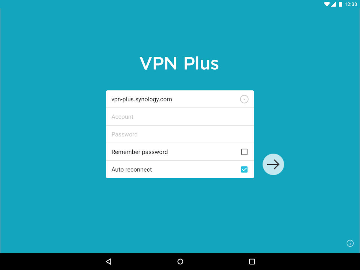 Synology VPN Plus- screenshot