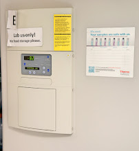 Photo: I'm sure I would not want to store my food in a plant pathology lab freezer!