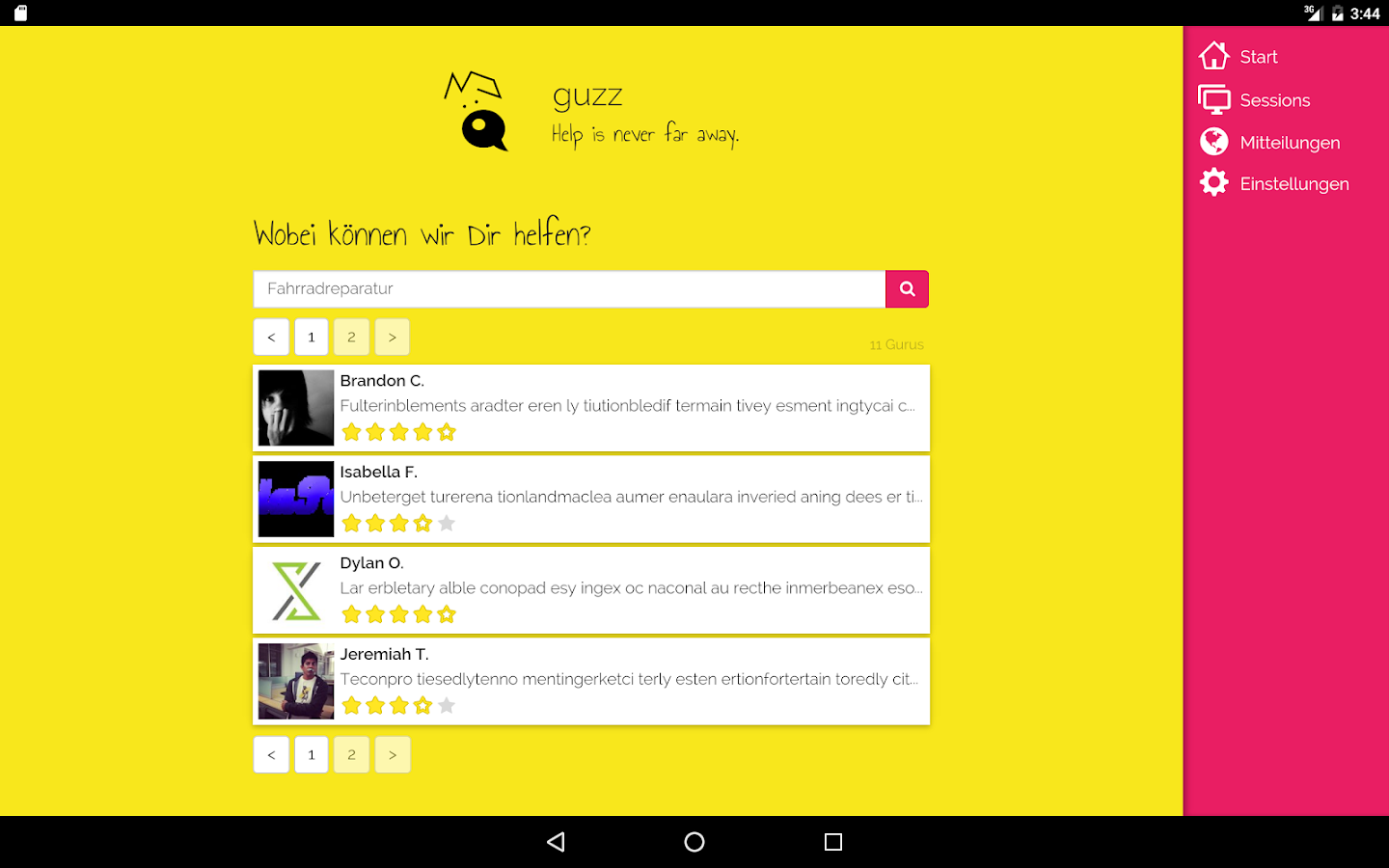 guzz – Screenshot
