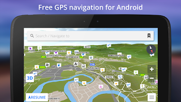 Screenshot of GPS Navigation BE-ON-ROAD