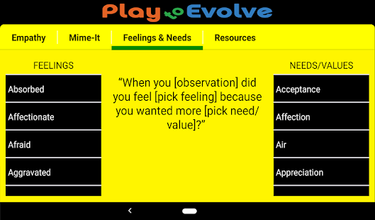NVC Play to Evolve Screenshot