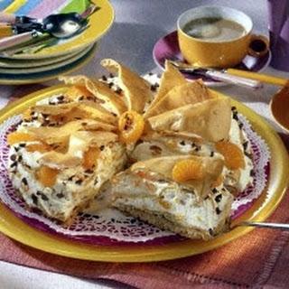 Brandteig-Torte mit Mandarinen-Schokosahne