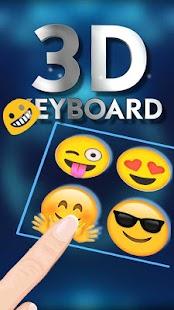 3D hologram tech keyboard theme - náhled