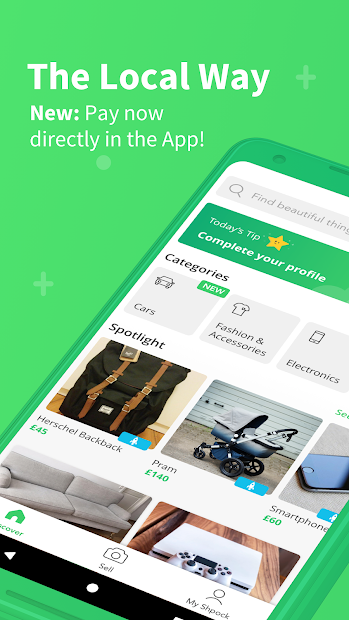 Shpock - The local way to sell and buy Android App Screenshot