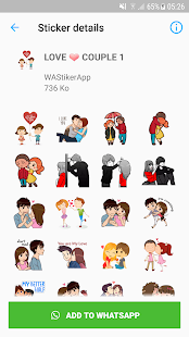 Couple Story Stickers Packs - WAStickerApps Screenshot