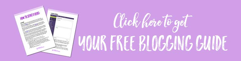 download this free blogging guide so you can start blogging today! | carenshope.com