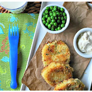 Fish Cakes With Lemon-Dill Dipping Sauce.