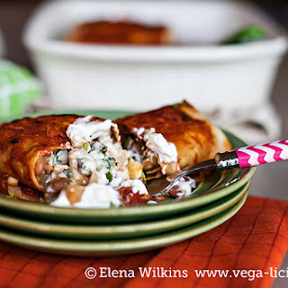 Low Free Vegan Bean Enchilada