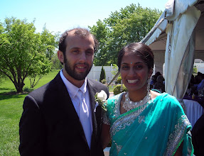 Photo: Ben and Anita after the wedding ceremony
