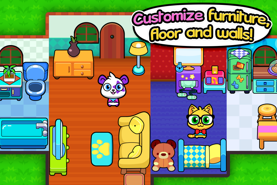 forest folks - cute pet home design game - android apps on google play