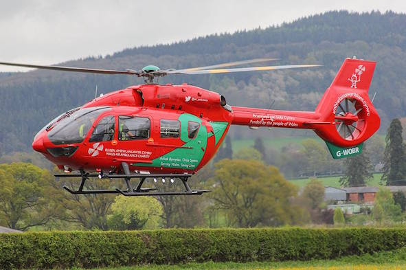 Air Ambulance costs £1,500 a time