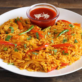 CHILLI CORIANDER RICE.