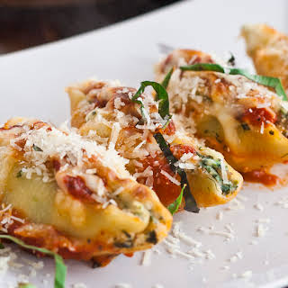 Cheese and Spinach Stuffed Jumbo Shells.
