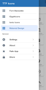 TTF Icons. Browse Font Awesome, Glyphicons & more 1.1.1